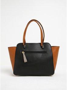 Hnedo-čierna kabelka Gionni Maddy