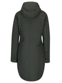 Tmavě zelený dámský zimní nepromokavý kabát LOAP Nikca