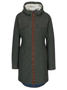Tmavozelený dámsky zimný nepremokavý kabát LOAP Nikca