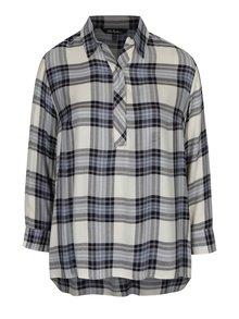 Krémová károvaná košile Ulla Popken