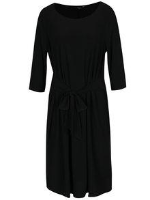 Čierne šaty so zaväzovaním v páse M&Co