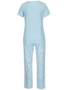 Svetlomodré dámske kvetované pyžamo M&Co