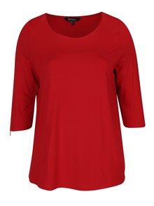 Červené tričko s 3/4 rukávom Ulla Popken