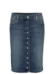 Modrá dámska rifľová puzdrová sukňa Lee Brooklyn
