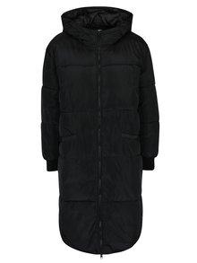 Čierny prešívaný kabát s kapucňou Jacqueline de Yong Rocca