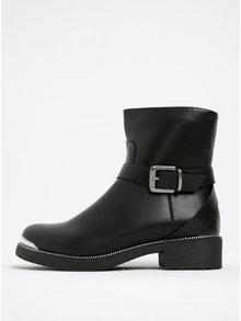 Černé kotníkové boty s přezkou Pieces Page
