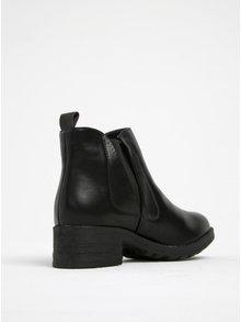 Čierne chelsea topánky Pieces Pixeil