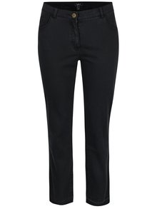 Černé straight džíny s roztřepenými lemy Ulla Popken
