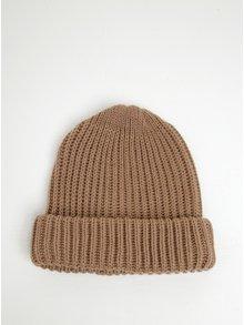Căciulă maro tricotată - Pieces Poulula