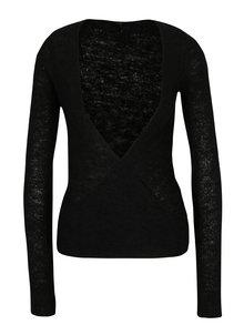 Čierny zavínovací sveter DEHA