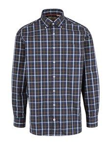 Tmavě modrá kostkovaná comfort fit košile JP 1880