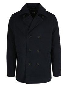 Tmavě modrý vlněný kabát ONLY & SONS Edgar