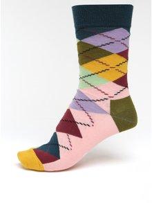 Farebné dámske kárované ponožky Happy Socks Argyle