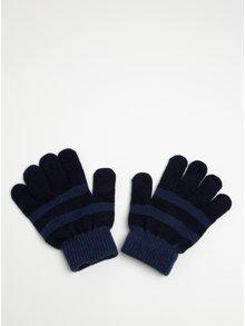 Modré chlapčenské pruhované rukavice name it Magic