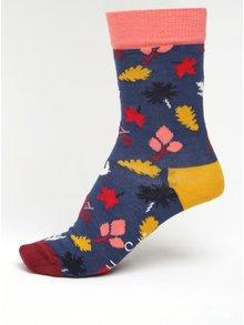 Tmavomodré dámske vzorované ponožky Happy Socks Fall