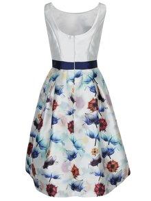 Krémové šaty s kvetovanou sukňou Chi Chi London Omari