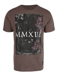Tricou maro din bumbac cu print - ONLY & SONS Max
