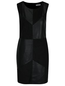 Rochie neagră din piele sintetică VILA Sonia