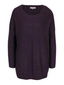 Fialový dlouhý vlněný svetr Selected Femme Rille