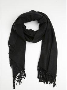 Esarfa neagra din amestec de lana Pieces Jira