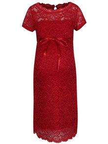 Rochie roșie din dantelă Mama.licious Marylin