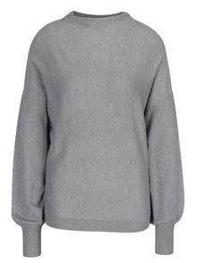 Svetlosivý sveter s netopierími rukávmi VILA Noma