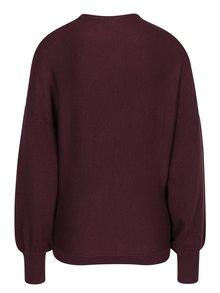 Vínový sveter s netopierími rukávmi VILA Noma
