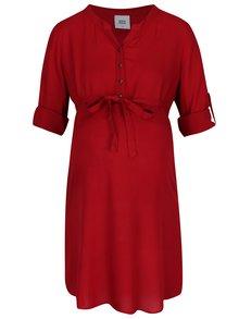 Červená tehotenská tunika s 3/4 rukávmi Mama.licious Mercy