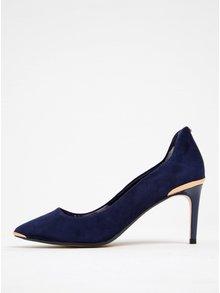 Pantofi bleumarin din piele întoarsă cu toc cui -  Ted Baker Vyixin