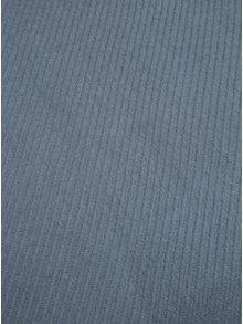 Eșarfă albastru deschis cu franjuri Pieces Kial