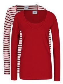 Set de 2 bluze alb&roșu Mama.licious Lea