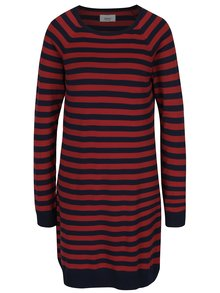 Červeno-modré mikinové šaty s pruhy ONLY Bell Lisa
