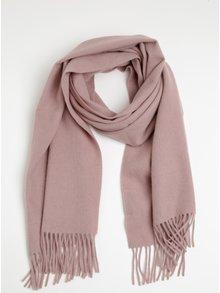 Eșarfă roz din lână cu cașmir  Selected Femme Avia