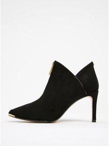 Čierne semišové topánky so zipsom na podpätku Ted Baker Millae