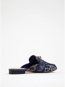 Modré kvetinové šľapky Ted Baker Dorlinj