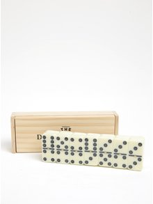 Joc domino intr-o cutie de lemn