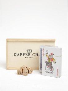 Hrací set karet a kostek v dřevěné krabičce CGB