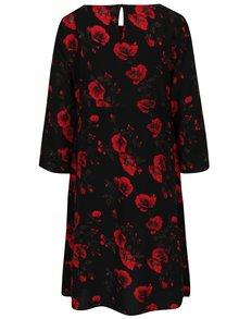 Čierne kvetované tehotenské šaty Mama.licious Romance