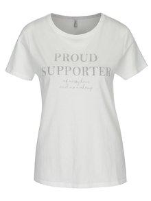Krémové tričko s potlačou ONLY Sabina Proud