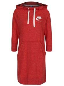 Rochie tip hanorac roșie pentru femei  Nike Sportswear Gym