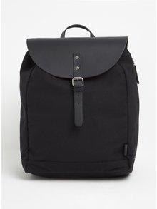 Černý batoh s koženými detaily Enter Kebnekaise 14 l