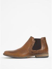 Pantofi chelsea maro din piele Bullboxer