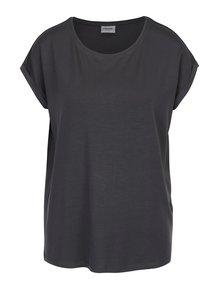 Sivé tričko s krátkym rukávom VERO MODA Ava
