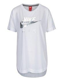 Šedo-bílé dámské tričko s krátkým rukávem Nike Sportswear Air
