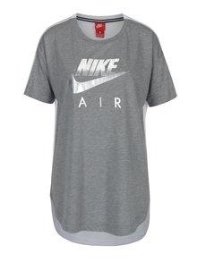 Bílo-šedé dámské tričko s krátkým rukávem Nike Sportswear Air