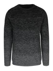 Tmavě šedý žíhaný svetr Jack & Jones Fuel