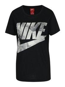 Černé dámské tričko s potiskem Nike Sportswear Glacier