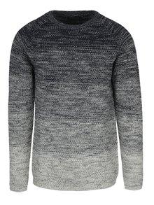 Sivý melírovaný sveter Jack & Jones Fuel