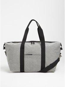Čierno-sivá cestovná taška Enter Holdal Tote