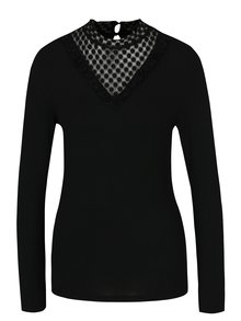 Bluză neagră cu dantelă ONLY Dotti